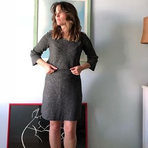Ann Taylor Petite Top and Skirt Set Black and Grey